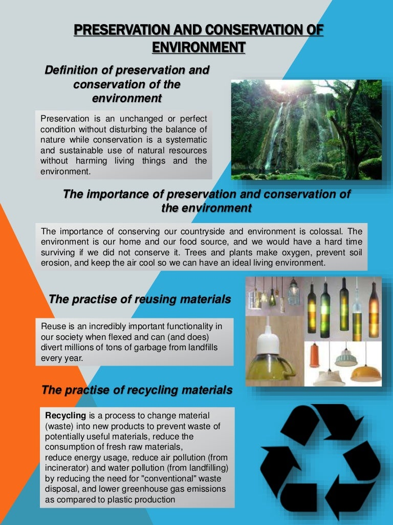Preservation And Conservation Of Environment Preservationandconservationofenvironmentphpappthumbnailjpgcb