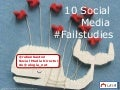 10 Social Media Failstudies
