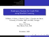 Manifold learning for credit risk assessment