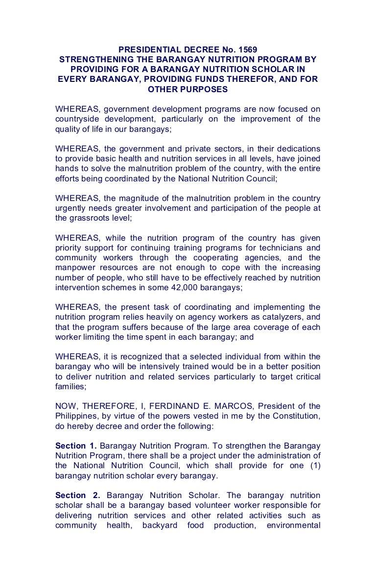presidential decree no 1569