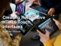 Creating Responsive HTML5 Touch Interfaces