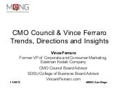 Vince Ferraro and CMO Council 2014 Marketing Trends, Directions, and Insights