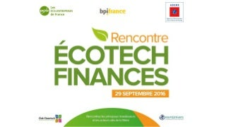 Levées de fonds cleantech 29 sept 2016