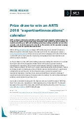 Press Release: Prize draw to win an ARTS 2018 expertise4innovations calendar