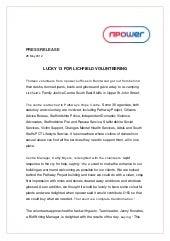 LUCKY 13 FOR LICHFIELD VOLUNTEERING