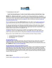 PRESS RELEASE - SocialBuzzTV Social Media Boot Camp : Brickell - Miami, FL