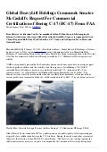 Global HeavyLift Holdings Commends Senator McCaskill's Request For Commercial Certification of Boeing C-17 (BC-17) From FAA