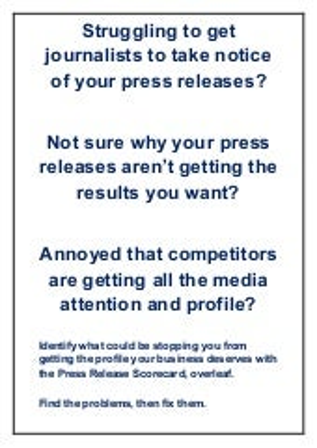 Press release scorecard
