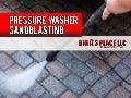 Pressure washer sandbasting