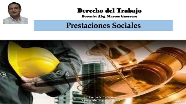 Prestaciones sociales Dlottt  Venezuela