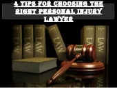 Preston Rezaee - 4 Tips For Choosing The Right Personal Injury Lawyer