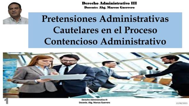 Pretensiones administrativas cautelares en el proceso