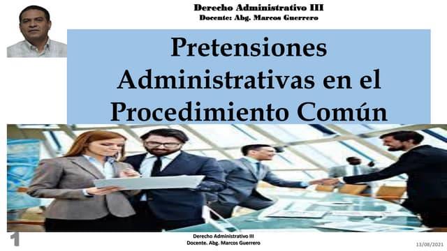 Pretensiones administrativas del procedimiento común