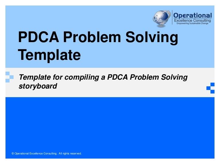 Lean Problem solving Template