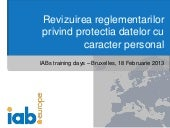 Prezentare Data Protection - Impact si Argumente