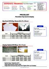 Price List Daftar Harga Percetakan Digital Printing Indoor