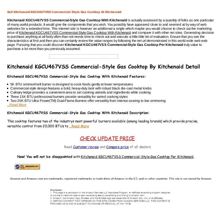 Price Comparisons Kitchenaid Kgcu467 Vss Commercial Style Gas Cooktop