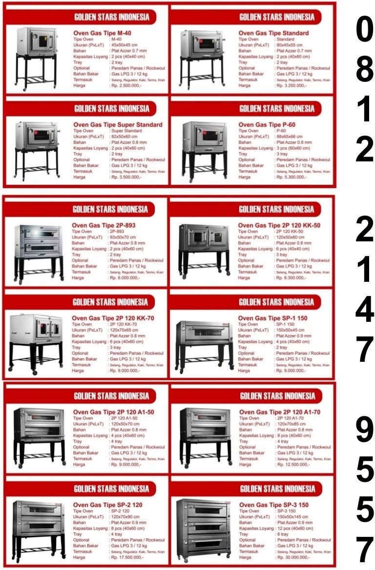 Harga Jual Oven Daftar Hock Aluminium 04 Putaran 02 Tempat Arang Gas Golden Stars