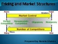 Pricing and markets