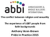When religion and sexuality collide in the workplace -Pride in Practice Conference 2015