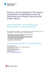 Primary care in Catalonia