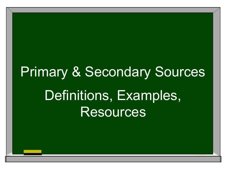 primary and secondary sources pdf
