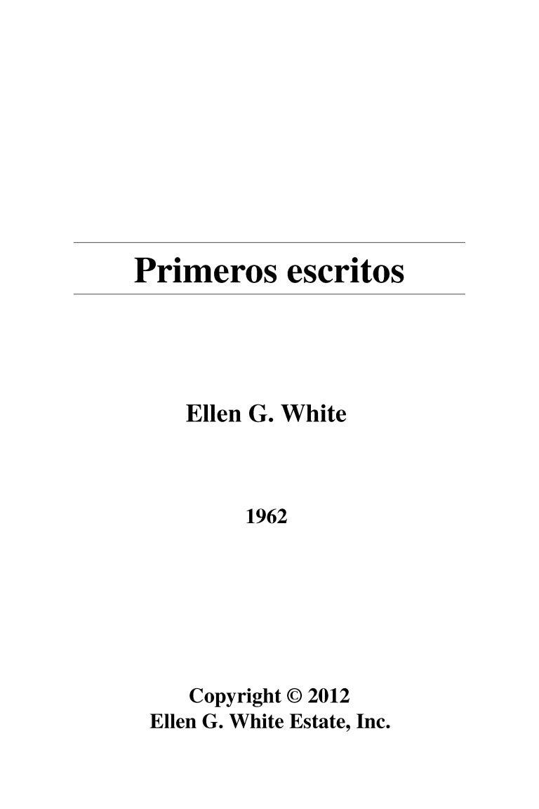 Primeros Escritos - Elena G. White