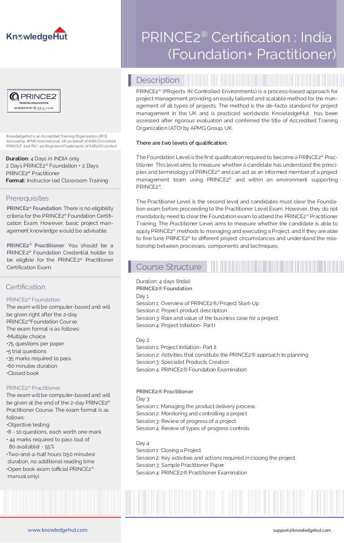 Prince2 certification indiafoundationpractitioner xflitez Choice Image