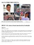 SALVATORE PRINCIOTTA (911 Firefighter Witness Found DEAD)