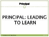 Principal school administrator head teacher leader