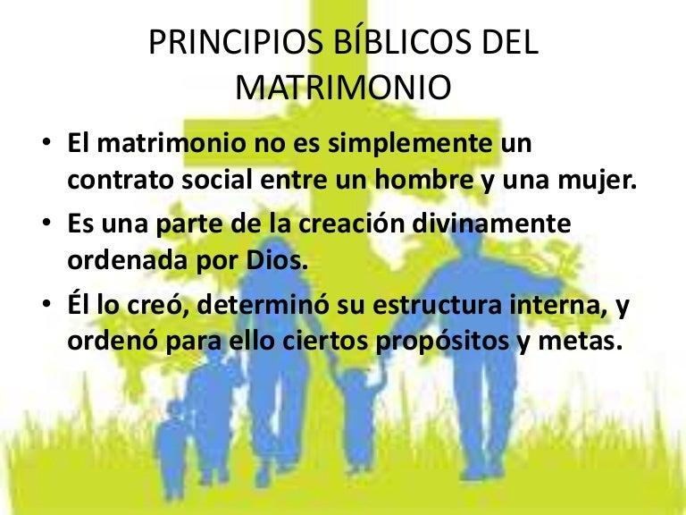 Matrimonio De Acuerdo Ala Biblia : Principios bíblicos del matrimonio