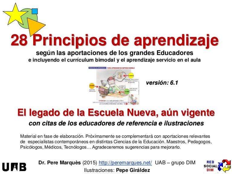 Principios de aprendizaje, v.6.1