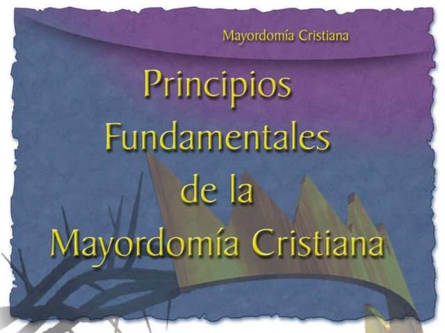 Principios Fundamentales Mayordomía Cristiana