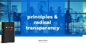 Principles and Radical Transparency - Lessons Learned from Ray Dalio