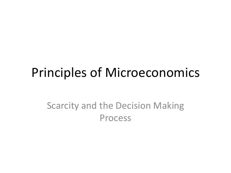 Principles Of Microeconomics Chapter 1