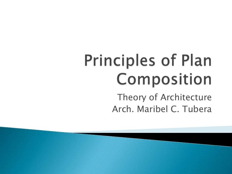 Principles of plan composition - Theory of Architecture