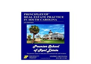 E-BOOK_HARCOVER LIBRARY Principles of Real Estate Practice in South Carolina's Premier School of Real Estate Edition '[Full_Books]'