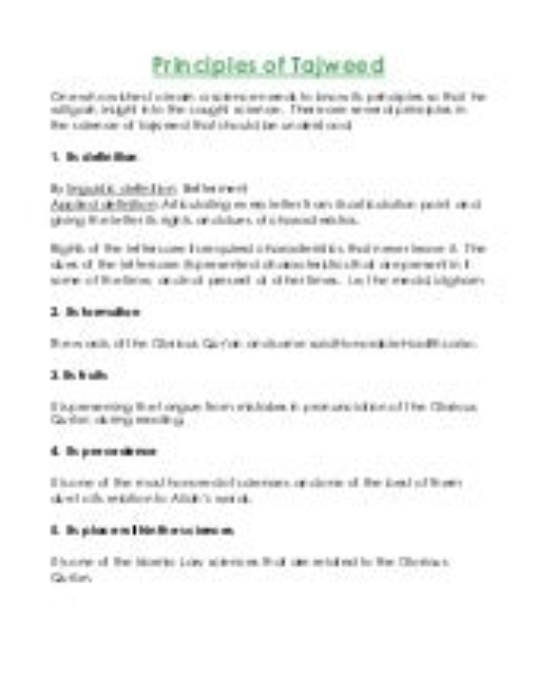 Principles of tajweed