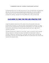 graphic regarding Ged Practice Test Printable named Printable ged teach verify