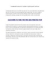 graphic regarding Ged Practice Test Printable named Printable ged teach verify