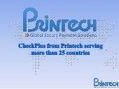 CheckPlus from Printech Global