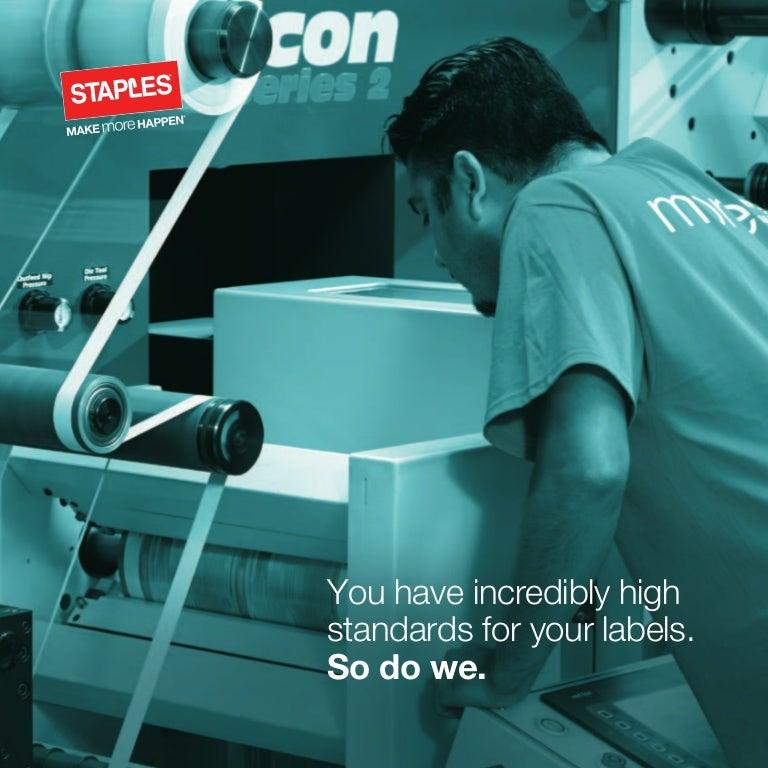 staples print  promo  labels  advertising  custom print