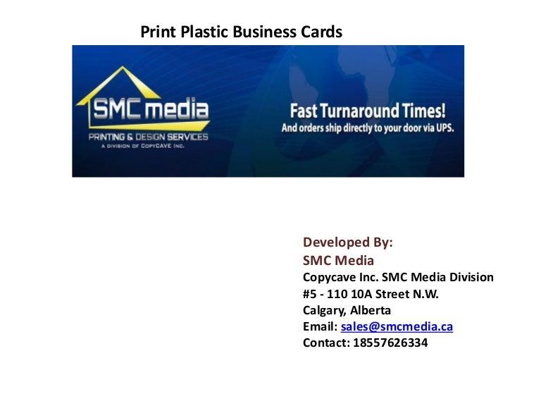 Print Plastic Business Cards
