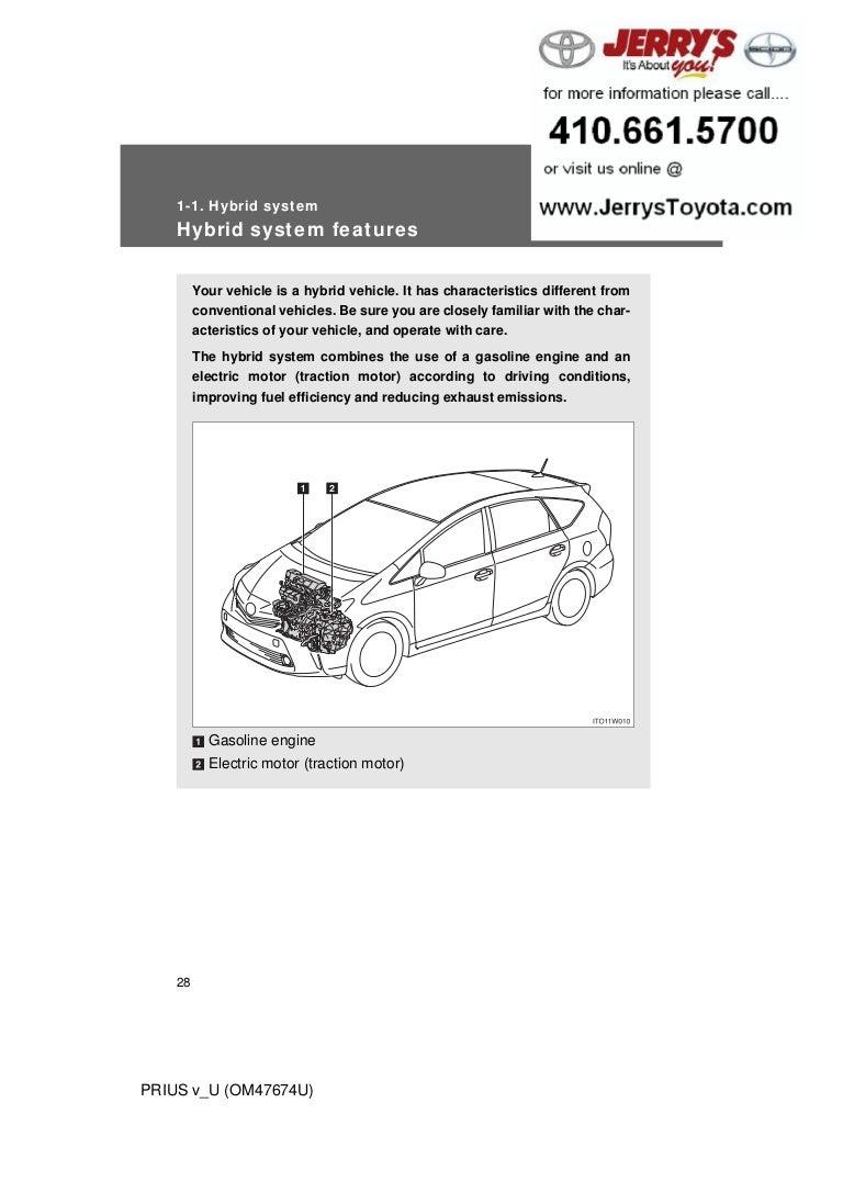 2012 Toyota Prius V Hybrid System Wiring Diagrams