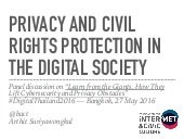 Privacy and Civil Rights Protection in the Digital Society