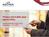 Privacy and mobile apps - status 2013 Belgium