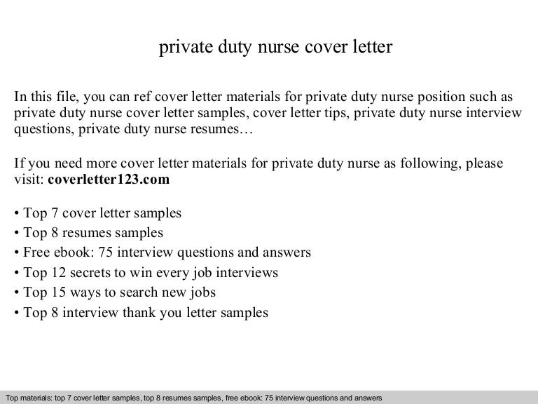 sample cover letters for nursing jobs