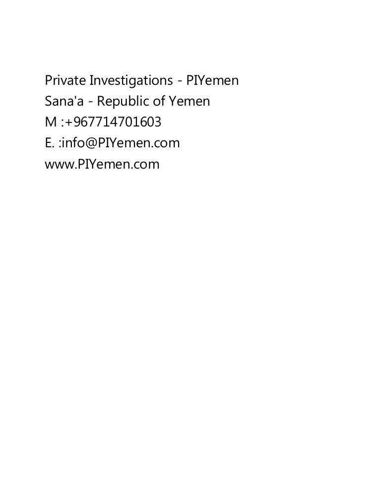 private investigations in yemen