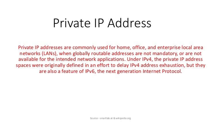 IP ADDRESS DEFINITION PDF