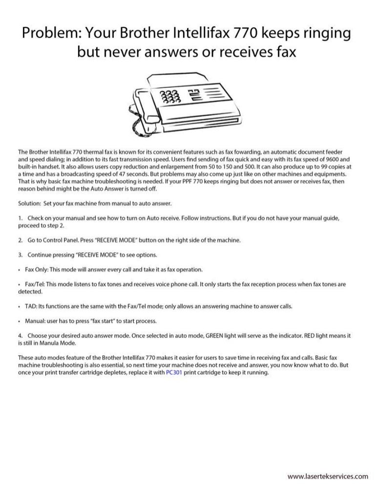 Brother fax 750 owner's manual pdf download.